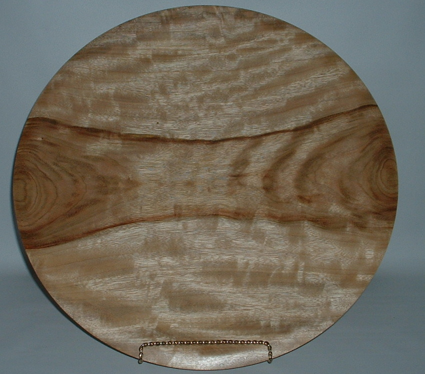 Camphor Platter by woodturner Richard Levine